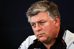 Otmar Szafnauer, CEO de Sahara Force India F1 lors de la conférence de presse