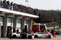 #33 Car Collection Motorsport, Audi R8 LMS: Christiaan Frankenhout, Christopher Haase; #34 Car Colle