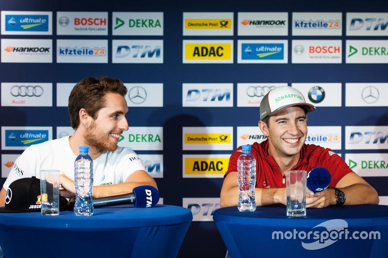 Conferenza stampa: Daniel Juncadella, Mercedes-AMG Team HWA, Mercedes-AMG C63 DTM e Mike Rockenfeller, Audi Sport Team Phoenix, Audi RS 5 DTM
