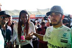 Lewis Hamilton, Mercedes AMG F1, mit Venus Williams, Tennisspielerin