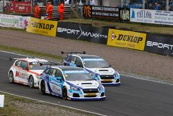 Jason Plato, Subaru Team BMR; Jack Goff, Team IHG Rewards Club; Colin Turkington, Subaru Team BMR