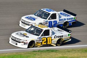Spencer Boyd, Young's Motorsports, Crowe Equipment Inc Chevrolet Silverado, Tate Fogleman, Young's Motorsports, Solid Rock Carriers Chevrolet Silverado