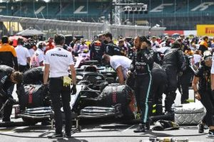 Lewis Hamilton, Mercedes-AMG F1, on the grid