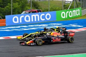 Alex Albon, Red Bull Racing RB16, Daniel Ricciardo, Renault F1 Team R.S.20