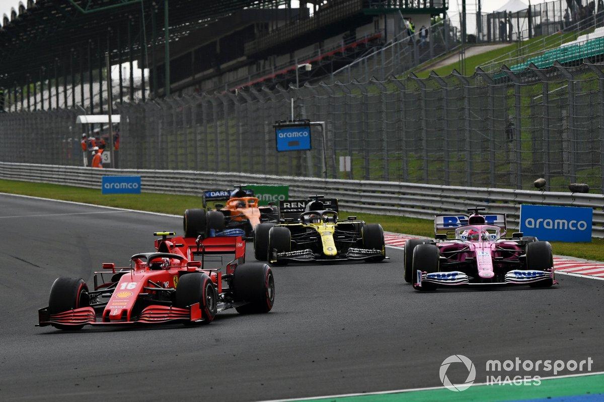 Charles Leclerc, Ferrari SF1000, Sergio Pérez, Racing Point RP20, Daniel Ricciardo, Renault F1 Team R.S.20, Carlos Sainz Jr., McLaren MCL35