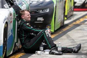 Justin Haley, Kaulig Racing, Chevrolet Camaro, después de terminada la carrera
