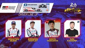 Line-up #8 Toyota Gazoo Racing