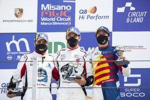 Podio: Gianmarco Quaresmini, Tsunami RT, Simone Iaquinta, Ghinzani Arco Motorsport e David Fumanelli, Team Q8 Hi Perform