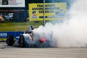 Скотт Диксон, Chip Ganassi Racing Honda празднует победу
