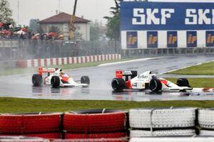 Alain Prost, McLaren MP4-5 Honda, Ayrton Senna, McLaren MP4-5 Honda