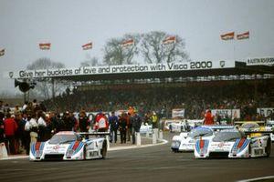 #4 Michele Alboreto, Riccardo Patrese, Martini Racing Lancia LC2, #5 Piercarlo Ghinzani, Teo Fabi, Martini Racing Lancia LC2