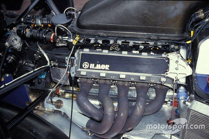 The Ilmor engine in one of the Tyrrell 020B