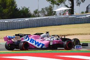 Romain Grosjean, Haas VF-20 et Lance Stroll, Racing Point RP20