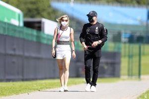 Valtteri Bottas, Mercedes-AMG F1 with Tiffany Cromwell