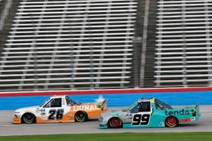 Tyler Ankrum, GMS Racing, Chevrolet Silverado Liuna! and Ben Rhodes, ThorSport Racing, Ford F-150 Tenda