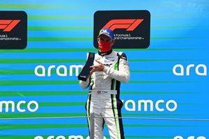 Phillip Sager, Dinamic Motorsport, 3rd position, on the podium