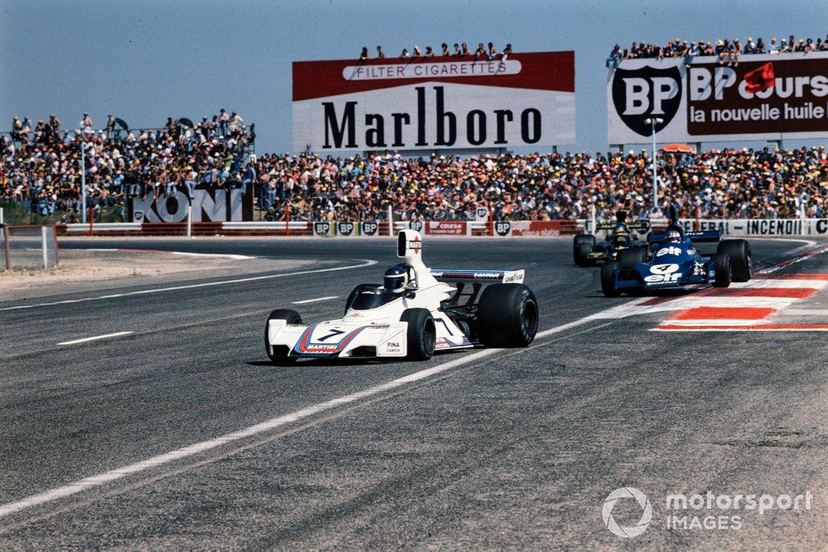 Carlos Reutemann, Brabham BT44B, Patrick Depailler, Tyrrell 007, Ronnie Peterson, Lotus 72E