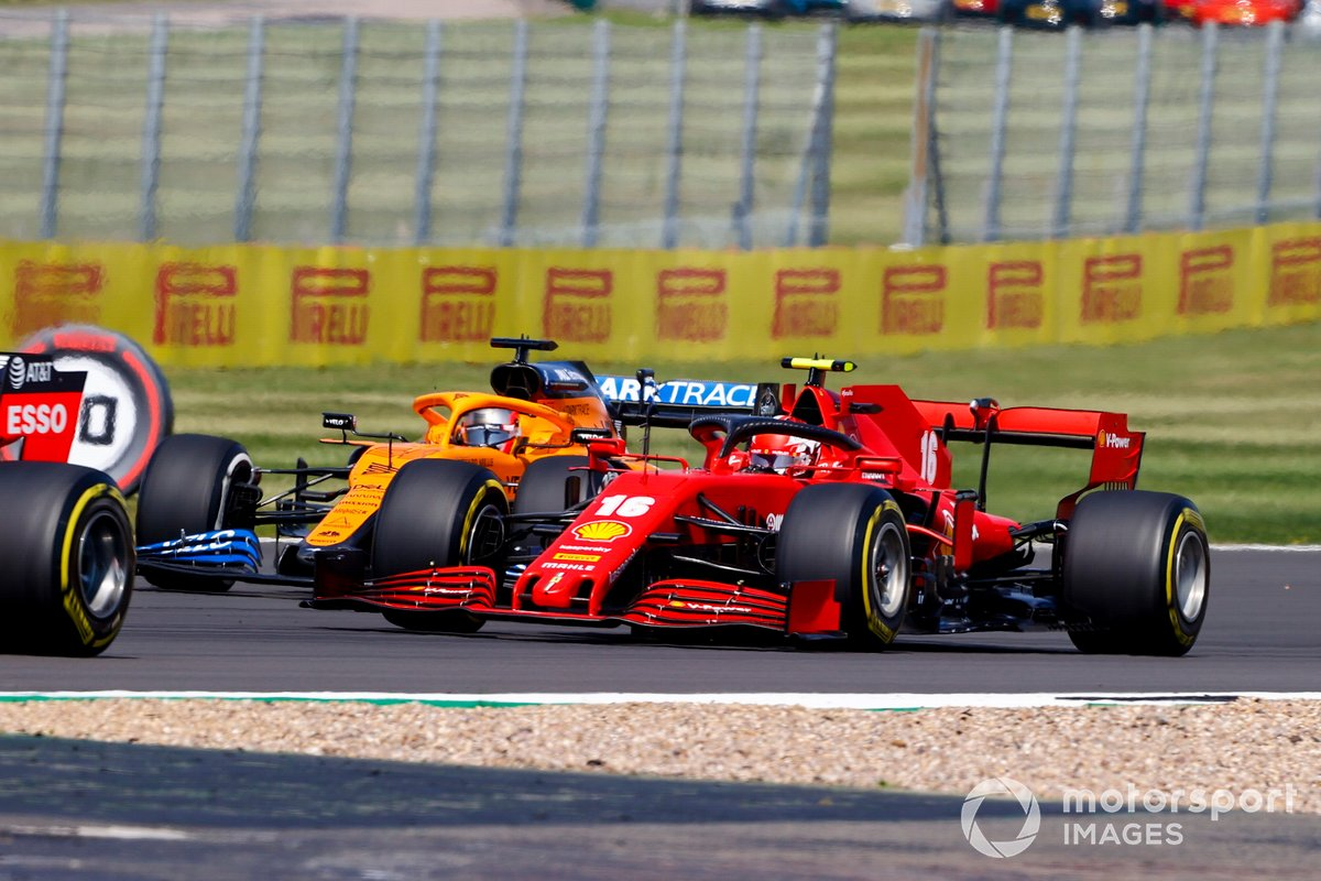 Charles Leclerc, Ferrari SF1000, Carlos Sainz Jr., McLaren MCL35