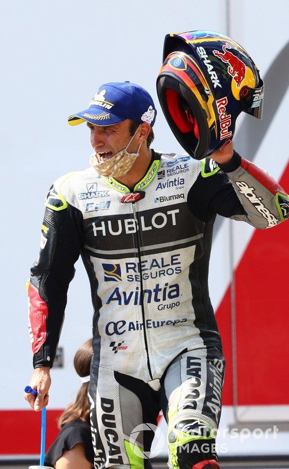 Podio_ tercer lugar Johann Zarco, Avintia Racing