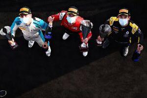 Race winner Callum Ilott, UNI-Virtuosi, 2nd place Christian Lundgaard, ART Grand Prix, 3rd place Jack Aitken, Campos Racing