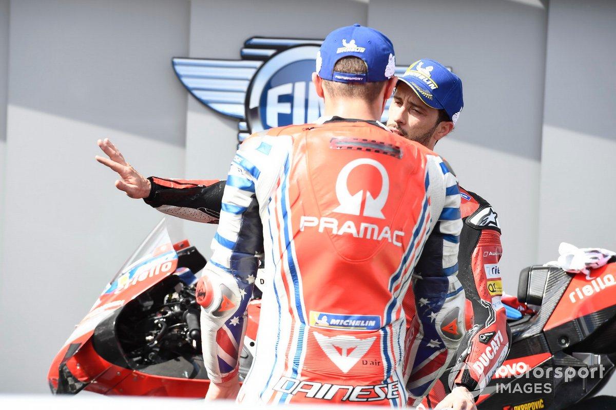 Ganador Andrea Dovizioso, Ducati Team, tercero Jack Miller, Pramac Racing