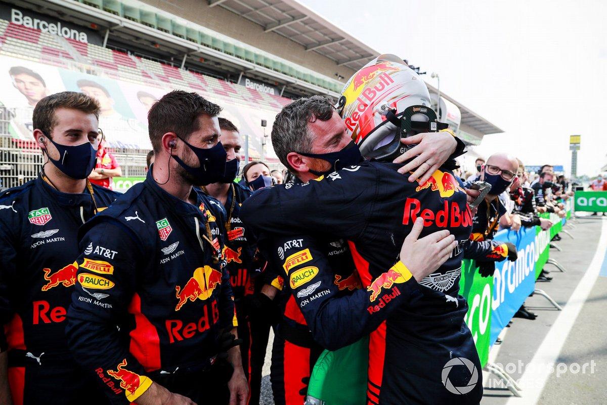 Max Verstappen, Red Bull Racing festeggia al Parc Ferme
