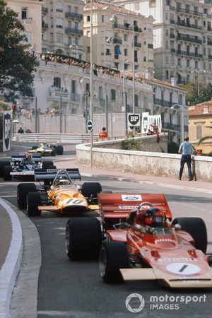 Francois Cevert, Tyrrell 002 Ford, Emerson Fittipaldi, Lotus 72D Ford, Peter Gethin, McLaren M14A Ford