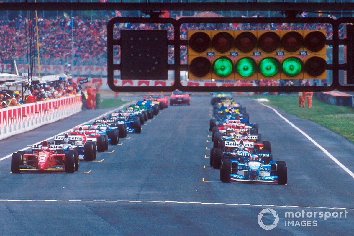Inicio del GP de San Marino de 1995