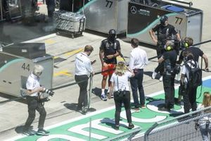 Lewis Hamilton, Mercedes-AMG Petronas F1, is interviewed prior to the race