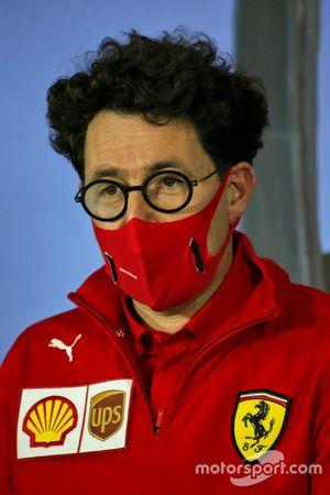Mattia Binotto, Team Principal Ferrari durante la conferenza stampa