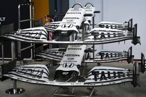 Spare AlphaTauri noses and front wings