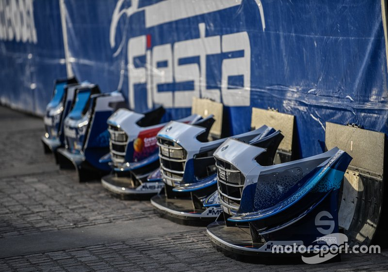 Parts of the M-Sport Ford WRT Ford Fiesta WRC