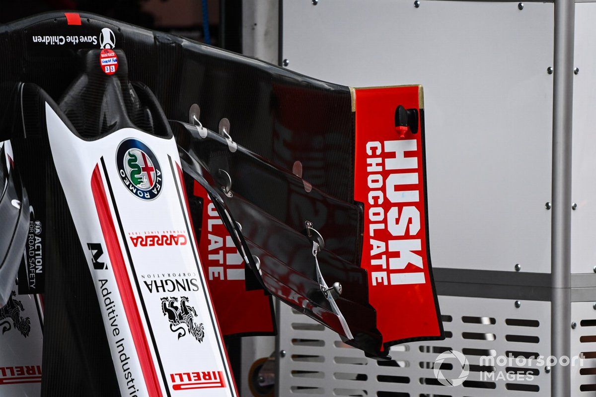 Alfa Romeo Racing C39 front wing detail