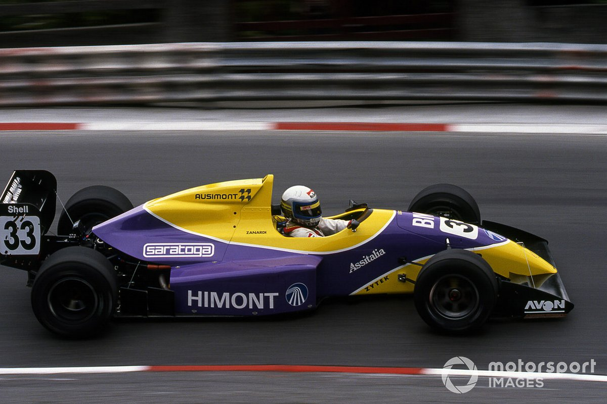 Zanardi took pole in the F3000 race at Pau, but retired. The season saw him finish first or second every time he finished.
