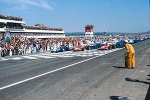 Jackie Stewart, Tyrrell 003 Ford, Clay Regazzoni, Ferrari 312B2, Jacky Ickx, Ferrari 312B2, GP di Francia del 1971