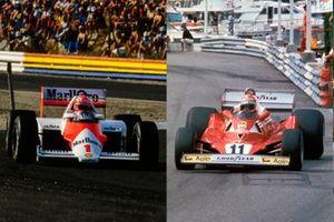 Niki Lauda, McLaren MP4-2B; Niki Lauda, Ferrari, 312T2