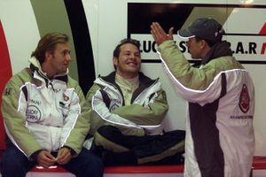 Olivier Panis, BAR Honda BAR003, Jacques Villeneuve and Patrick Lemarie