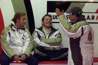 Olivier Panis, BAR Honda BAR003, Jacques Villeneuve et Patrick Lemarié