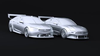 Supercars iRacing renders