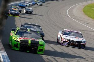 Chase Elliott, Hendrick Motorsports, Chevrolet Camaro Mountain Dew, Denny Hamlin, Joe Gibbs Racing, Toyota Camry FedEx Ground