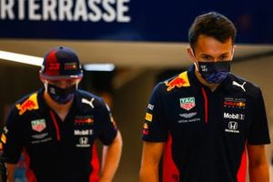 Max Verstappen, Red Bull Racing, and Alex Albon, Red Bull Racing