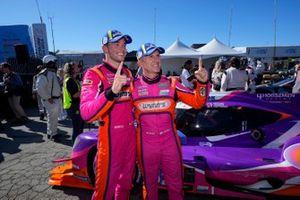 Ganadores #52: PR1 Mathiasen Motorsports ORECA LMP2 07, LMP2: Ben Keating, Mikkel Jensen, victory lane