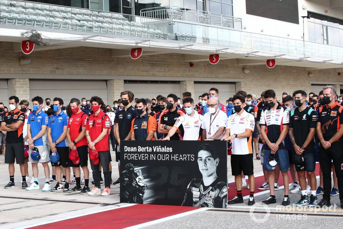 El MotoGP recuerda al piloto de WorldSSP300 Dean Berta Viñales