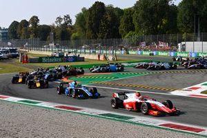 Oscar Piastri, Prema Racing Guanyu Zhou, Uni-Virtuosi Racing Liam Lawson, Hitech Grand Prix