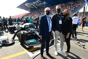 Miami GP managing partner Tom Garfinkel and his wife on the grid