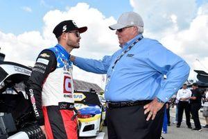 Kyle Larson, Hendrick Motorsports, mit Rick Hendrick