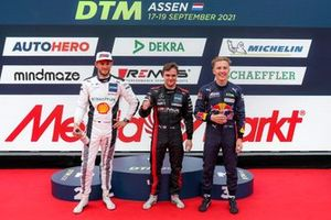 Top 3 after Qualifying, Marco Wittmann, Walkenhorst Motorsport, #Pole sitter Lucas Auer, Mercedes AMG Team Winward, Liam Lawson, AF Corse