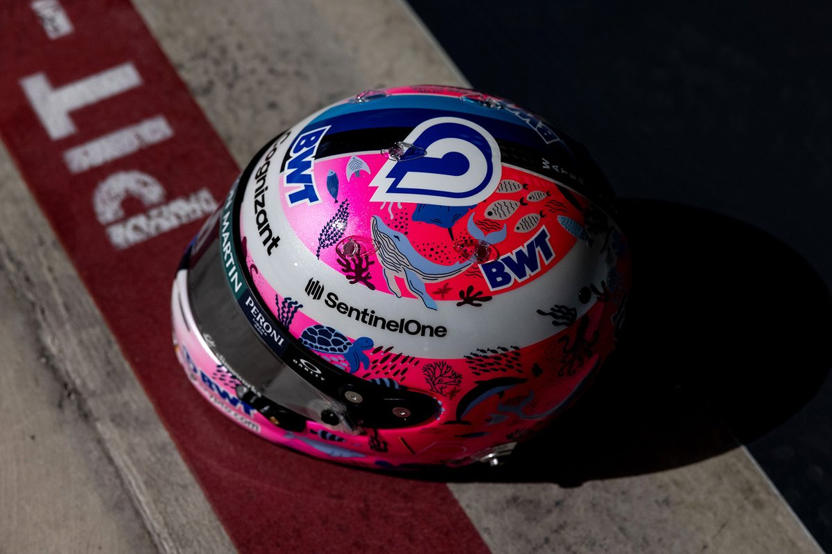 Casco especial de Sebastian Vettel, Aston Martin