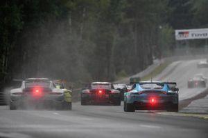 #92 Porsche GT Team Porsche 911 RSR - 19 LMGTE Pro, Kevin Estre, Neel Jani, Michael Christensen, #33 TF Sport Aston Martin Vantage AMR LMGTE Am, Ben Keating, Dylan Pereira, Felipe Fraga