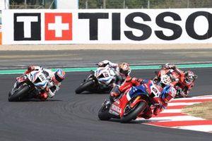 Leon Haslam, Team HRC, Tom Sykes, BMW Motorrad WorldSBK Team, Michael van der Mark, BMW Motorrad WorldSBK Team